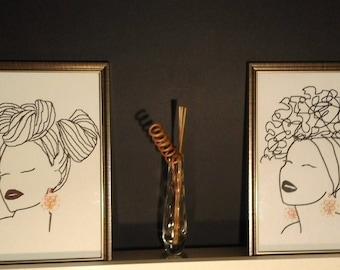 Sankofa, Ethnic Digital Art Print, Ethnic art woman, Afrocentric, Birthday gift, Christmas gift