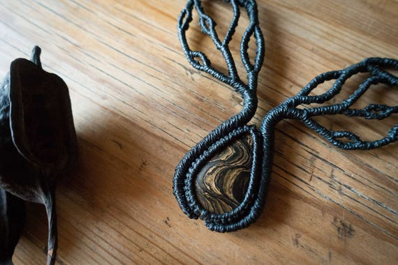 Stromatolite tree branches necklace