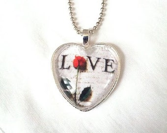 Love Heart Pendant. Lovingly Handmade in Brooklyn by Wishing Well Studio.