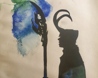 Loki, watercolour and ink