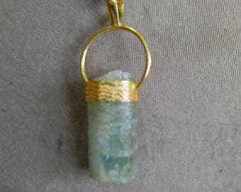 1 Pendant   Aquamarine Natural crystal form, GS.  12 grams  11X15X33, MM.