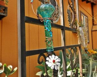 Handcrafted Glass Humingbird Feeder