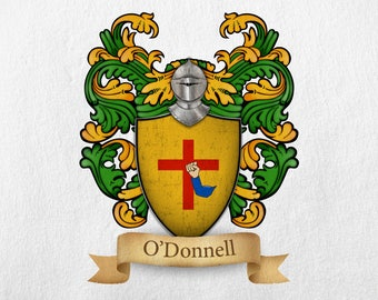 O'Donnell Family Crest - Print
