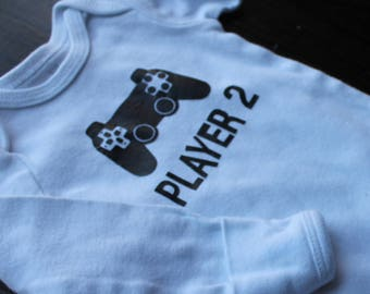 Player 2 gamer baby onesie