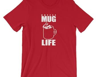 Coffee Mug Life, Caffeine Shirt, Coffee Lover Shirt, Coffee Drinker, Mug Of Coffee, Coffee Life, Coffee Lover Gift, Caffeine Lover Gift