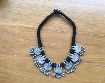 Tribal silver Necklace Vintage OOAK necklace