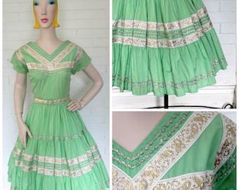 Vintage 1950s Patio Dress M/L
