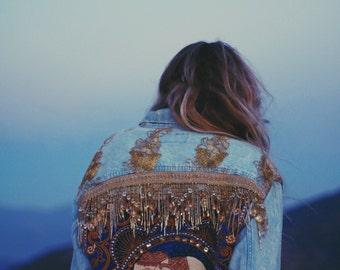 Made to Order | Embellished Elephant Jacket in Royal Blue