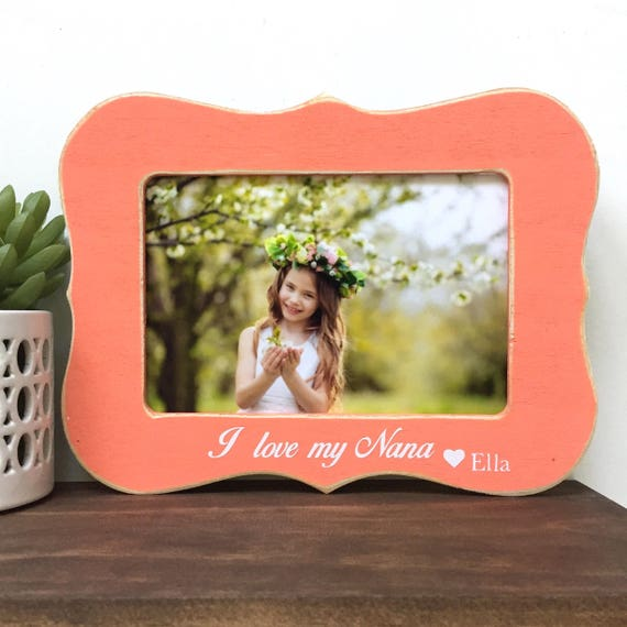 I Love My Nana Picture Frame Gift Personalized Gift