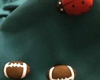 Cute Footballs Sports Ball Clog Shoe Charms