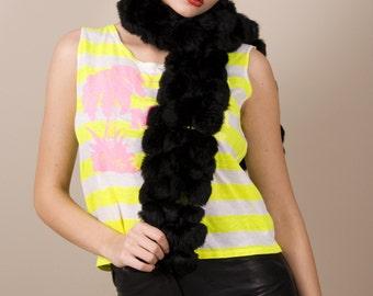 Malgrat de mar // vintage neon yellow striped top, sleeveless