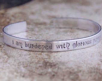 I Am Burdened With Glorious Purpose / Avengers Jewelry / Avengers Gift / Loki Jewelry / Comic Book Jewelry / Comic Book Gift / Quote Jewelry