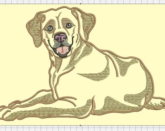Labrador  Machine Embroidery Design