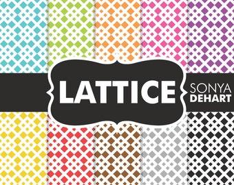 80% OFF SALE Lattice, Digital Paper, Lattice Backgrounds, Lattice Patterns, Lattice Papers, Scrapbook Papers, Scrapbook Pages