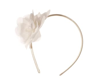 "Wedding Hair Accessory, Bridal Silk Flower Headband- ""Lily"""