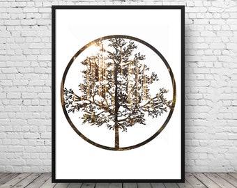 Tree Of Life Wall Art - World Tree Print - Yggdrasil Print - Nordic Mythology Print - Nordic Decor - World Tree Art - Spiritual Gift