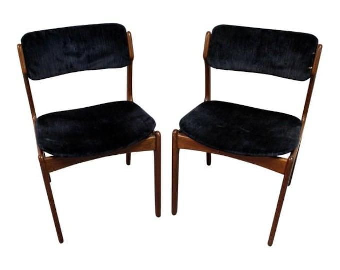 Pair of Mid-Century Danish Modern Erik Buch for O.D. Mobler Teak Dining Chairs