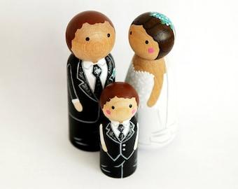 Custom HAPPY FAMILY WEDDING of 3