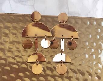 Funky Geo Statement Earrings