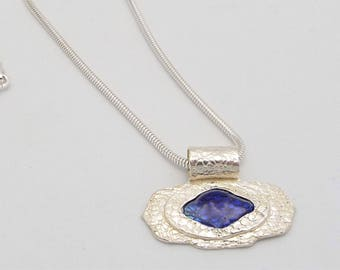 Fine Silver Necklace - Dive into the Blue