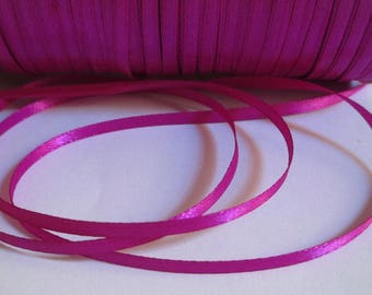10 meter 3mm fuchsia satin ribbon