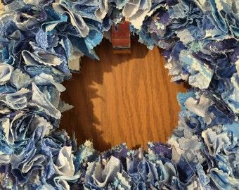 Blue ruffle wreath