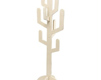 Large Wooden Cactus Tree 60cm - Floor Stand Self Assembly - Decorate Paint Plain Craft Display