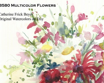 B580 Multicolor Flowers