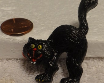 Halloween Black Cat Brooch