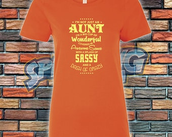 Not Just An Aunt Ladies Tee