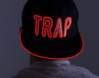 Light Up Hat - TRAP--Burning Man, Festival Clothing, Bonnaroo, Tomorrowworld, Halloween, Rave
