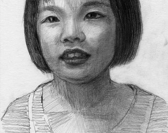 Pencil portraits (made to order, A4 size)