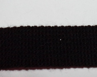Black strap knitted width 2.5 cm new good quality