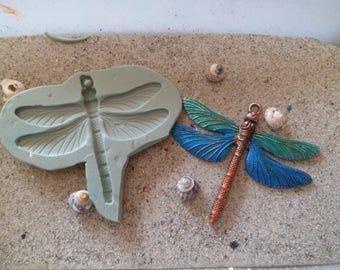 Dragonfly polymer clay wepam gm silicone mold