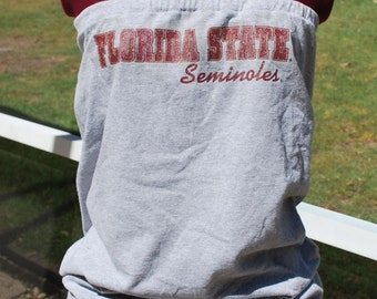 Florida State University Seminoles FSU Noles Upcycled Womens Strapless Top Shirt XS, S, M, L, XL