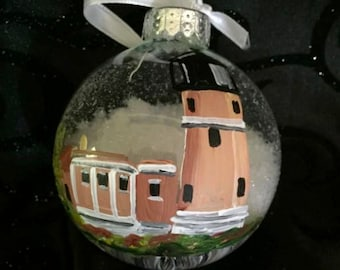 Hand Painted Lighthouse ornament
