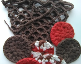 crochet face scrubbies, crochet face scrubbies, crochet scrubbies, crochet face scrubbers, crochet make-up remover pads