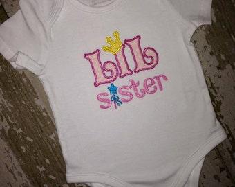 Lil Sister Appliqued Shirt