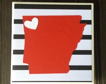 Arkansas Coasters, State of Arkansas Coasters, Northwest Arkansas Coasters, Set of 4 Coasters