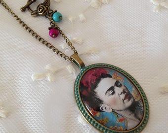 Frida Khalo cameo necklace.
