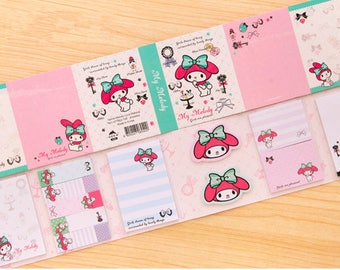 6Fold My Melody  Sticky Note—Sticky Notes, Stick Note, Notepad, Rabbit Sticky Notes,Sticky Memo, Memo Pad