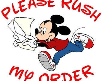 RUSH MY ORDER - Move Me To The Front of the Line (Ships Within 3 Business Days)