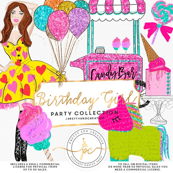 Birthday Girl Clipart Birthday Clip Art Party Clip Art Balloons