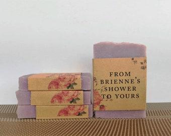 30 Bridal shower favors custom labels baby shower soap favors wedding favors bridal shower guest soap mini soap homemade shower soap favors