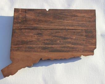 Connecticut Sign, Connecticut State Sign, Connecticut, Connecticut Pallet Sign, Connecticut  Wood Sign, Connecticut Rustic Decor, Wall Art