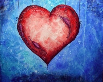 Heart on Strings - 8x10 print - Art by Marcia Furman