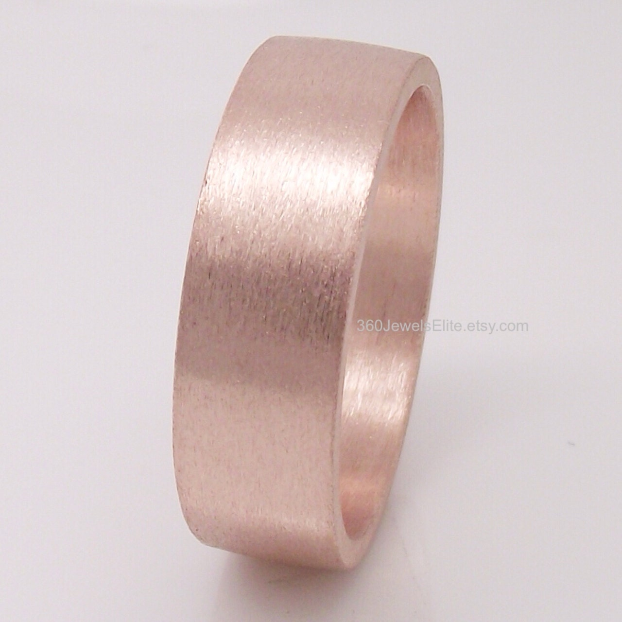 6mm Tube ring Rose Gold Plated Over 925 Sterling Silver