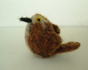 Mini Knit and Felted Thrasher - Bird Series