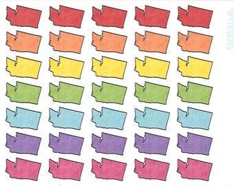 Washington Stickers || Planner Stickers