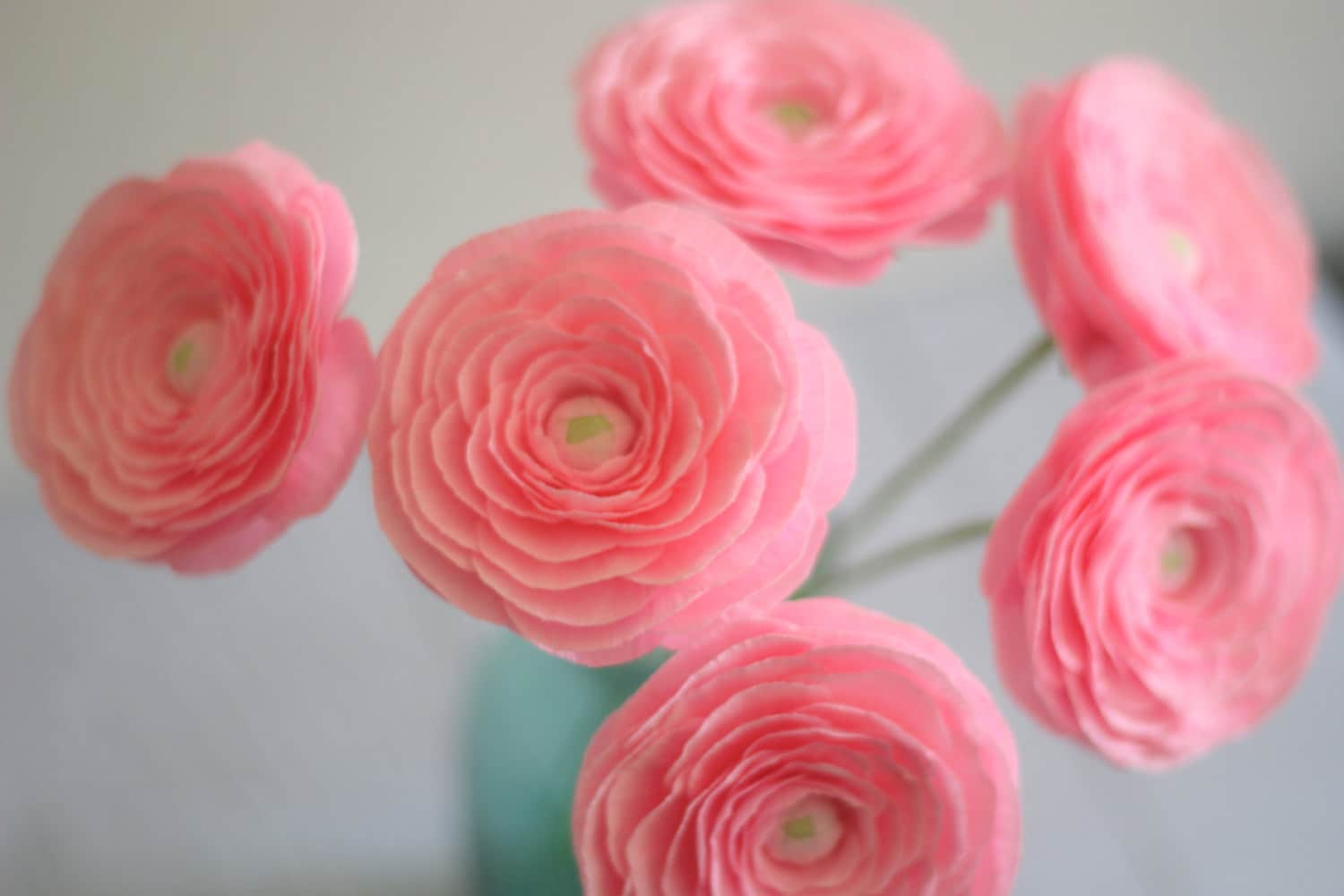 6 Paper Ranunculusbuttercup For Mothers Day Wedding Bouquet